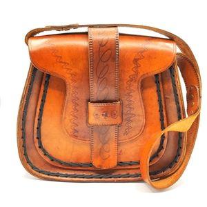 Vintage Hand Tooled Bag
